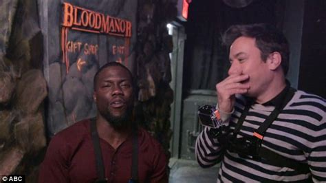 kevin hart haunted house kevin hart is spooked as he visits haunted house with