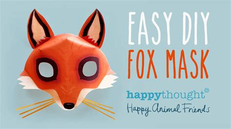 free diy fox mask template and tutorial make your own 3d