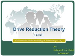 drive reduction theory adalah chapter 1 cognitive psychology an introduction