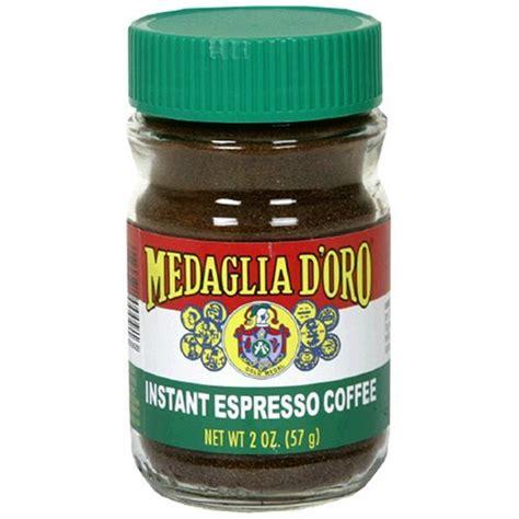 medaglia d oro imported instant espresso powder ground coffee 2 oz