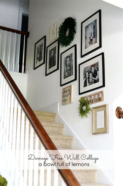 Up The Stairs Wall Decor by Best 25 Stairway Wall Decorating Ideas On