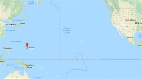 guam located   map   map