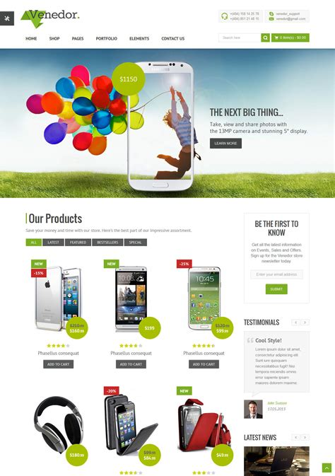 templates ecommerce 25 best html ecommerce website templates free premium