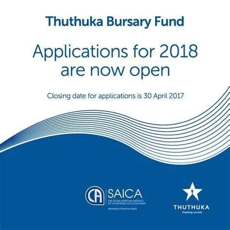 Mba Bursaries 2018 by Saica S Thuthuka Bursary Fund 2018 For Aspiring Chartered