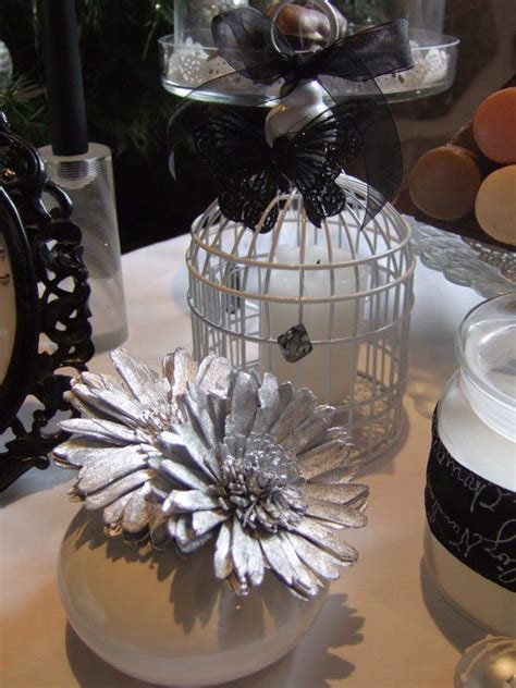 Silver Table Decorations by Using Birdcages In Home Design