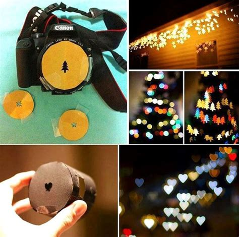 easy diy bokeh shaped camera lens cover amazing diy