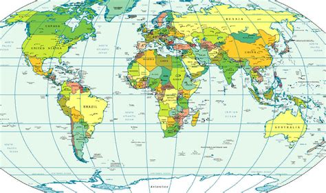 map countries world map showing countries