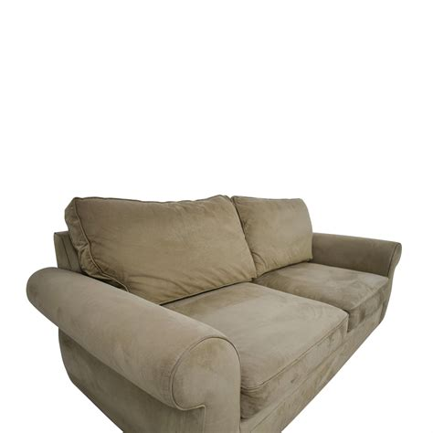 pottery barn sofa replacement cushions 53 off pottery barn pottery barn beige two cushion roll