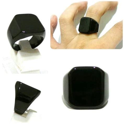 jual cincin titanium hitam cincin cowok keren murah