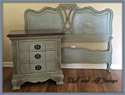 a bedroom set finished in duck egg blue and linen