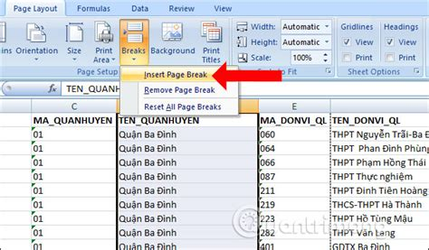 layout tren excel c 225 ch in excel tr 234 n 1 trang giấy a4