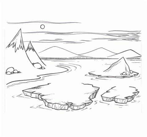 arctic coloring sheets coloring pages