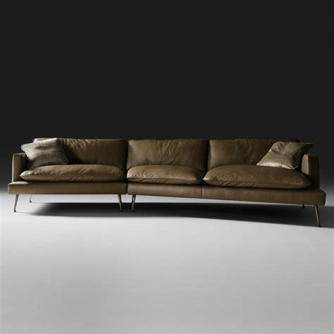 Modern Italian Leather Modular Sofa Italian Leather Sofas Contemporary