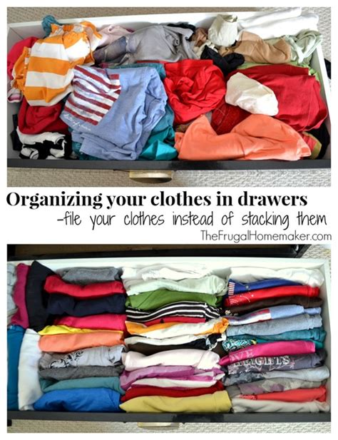 How To Organize Drawers Clothes by Organize Your Dresser Drawers 10 Simple Frugal Ideas To
