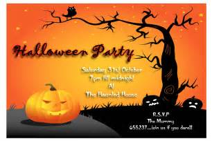 halloween night event flyer party template with space for