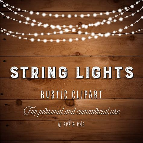 rustic string lights string lights clipart lights clipart lights