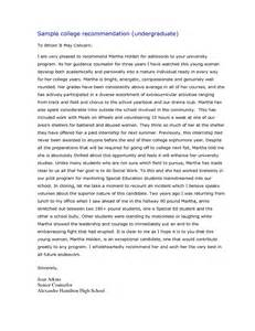 Reed College Letter Of Recommendation Exle Personal Statements For College Undergraduate