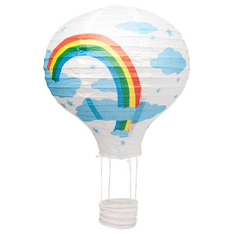 Paper Lantern Ceiling Light 12 Quot Rainbow Air Balloon Paper Lshade Lantern Ceiling Light Shade Ebay