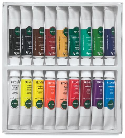 blick acrylic paint 00641 1018 reeves acrylic painting sets blick