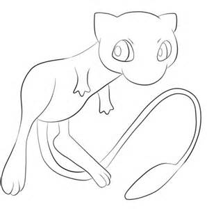 pokemon mew coloring free printable coloring pages