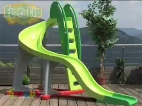 smoby childrens u turn large garden slide