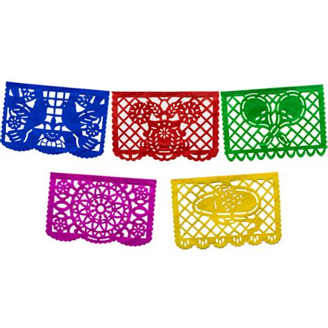 How To Make Mexican Paper Banners - cinco de mayo decorations large paper picado banner