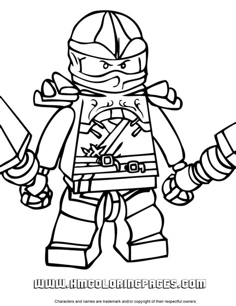 free coloring pages of lego ninjago kai zx