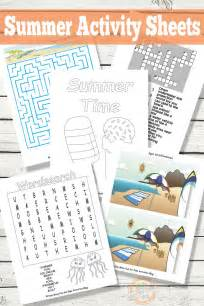 Coolest Sheets For Summer printable summer activity sheets