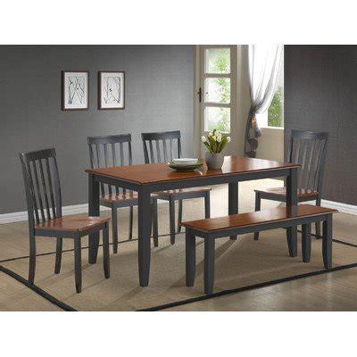 boraam bloomington dining set boraam 21035 bloomington 6 piece dining room set black