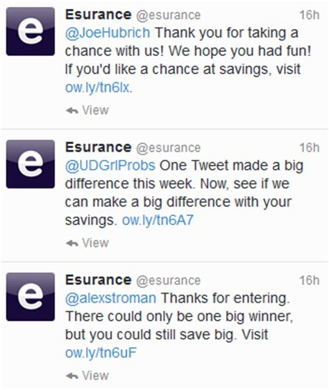 Esurance Sweepstakes - esurance awarded its 1 5 million prize what s next will the 200 000 new twitter