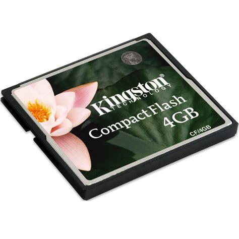 Memory Card Compact Flash kingston compact flash memory card standard 4gb cf 4gb black jakartanotebook