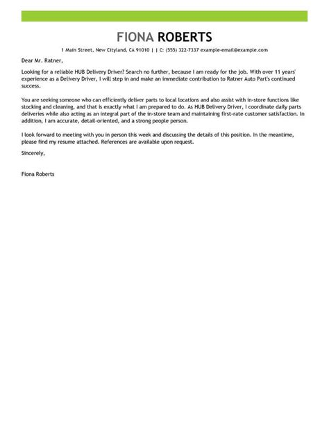 City Driver Cover Letter by City Driver Cover Letter Diversity Trainer Sle Resume
