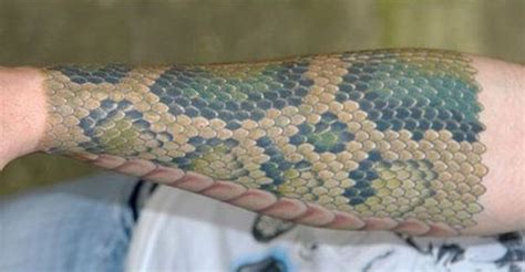 snake skin tattoo barnorama