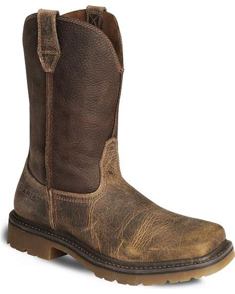 ariat rambler work boots ariat earth rambler pull on work boots wide square toe