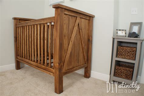 how to build a baby crib out of wood diy crib diystinctly made