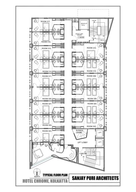floor plan of hotel chrome hotel sanjay puri architects house layout and