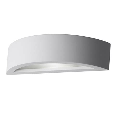 led light with diffuser cadiz gypsum curved led wall light with diffuser