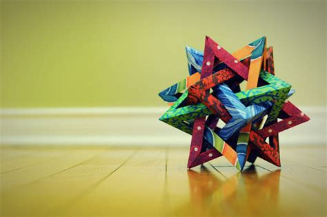 Origami Five Intersecting Tetrahedra - origami 5 intersecting tetrahedra patwalton