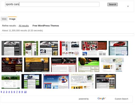 themes for google search engine find free wordpress themes with google image search