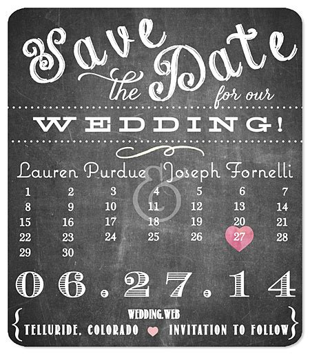 Cheap Calendar Save The Dates Playful Type Calendar Chalkboard Save The Date Wedding