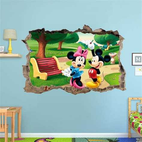 Winnie The Pooh Wall Stickers mickey mouse and minnie mouse 3d wall sticker smashed