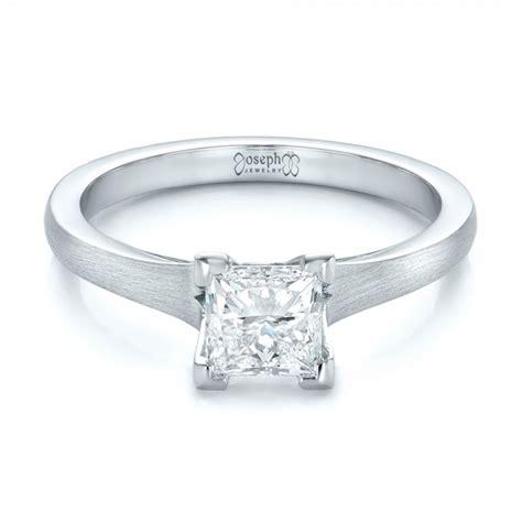 custom princess cut solitaire engagement ring 102150