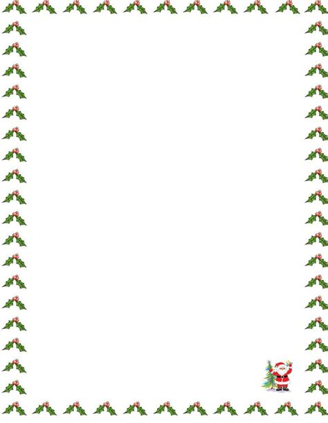 Free Christmas Letter Borders New Calendar Template Site Letter Template Border