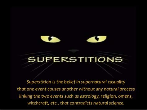science superstition