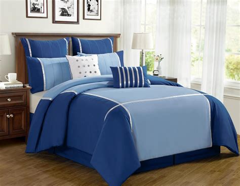 8 piece vienna blue comforter set