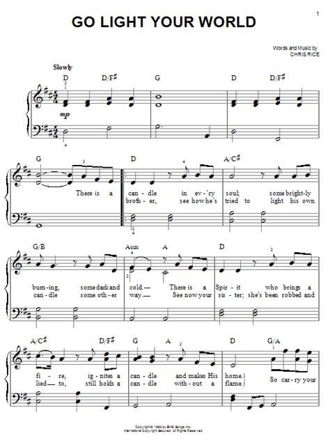 light of the world chords go light your world sheet music direct