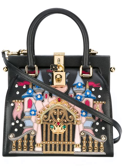 G Bag dolce gabbana castle patch tote bags dolce and