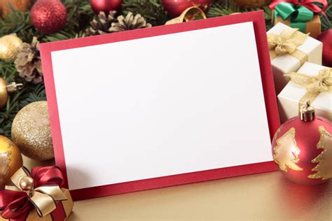 blank christmas card with ornaments photo free download