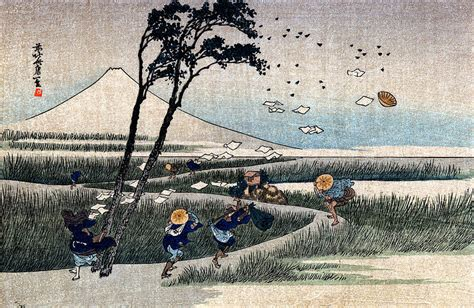 day in japan 19th c windy day in japan painting by historic image