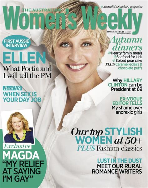 Degeneres On The Cover Of W by Is The Australian S Weekly March 2013 Cover